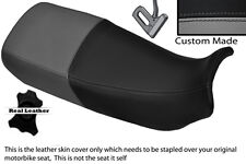 BLACK & GREY CUSTOM FITS HONDA XL 600 V TRANSALP DUAL LEATHER SEAT COVER
