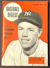 VINTAGE BASEBALL DIGEST GIL MCDOUGALD OCTOBER 1951 VOL 10 NO 10