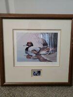"Nolan Haan 1986 Nevada Duck Stamp Print  "" Redhead"" Signed 1758 of 2000"