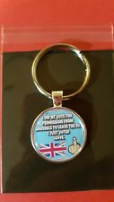 BREXIT LEAVE MEANS LEAVE ANTI EU VOTE QUALITY METAL KEY RING