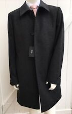 NEW HUGO BOSS Men's Grey Luxury 4 Button Wool Cashmere Coat Size 42 R