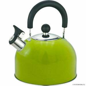 2.5L Stainless Steel Whistling Kettle Electric Gas Hob Camping Tea Coffee Spout