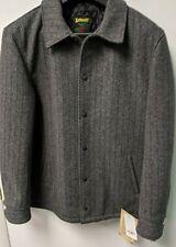 Schott Wool Coachman Coat (781USA) Charcoal Herringbone
