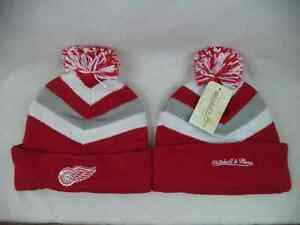 Detroit Red Wings Mitchell & Ness NHL Cuffed Knit Beanie Toque Hat Cap OSFA