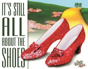 Desperate Enterprises Wizard Of Oz All About The Shoes Tin Sign Ruby Slippers