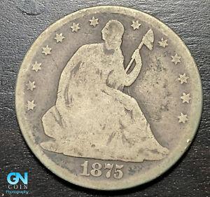 1875 P Seated Liberty Half Dollar  --  MAKE US AN OFFER!  #B7671