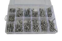 510 pc 304 Stainless Steel Pop Rivet Assortment Kit 6 mm to 25 mm stalk size .