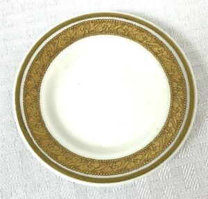 Vintage Lamberton China Butter Pat Dish 3 1/4 inch with Gold Design Trim