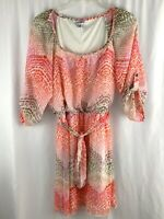 Speechless Blouson Dress Size Medium Pink Chiffon Semi Sheer Overlay Leopard