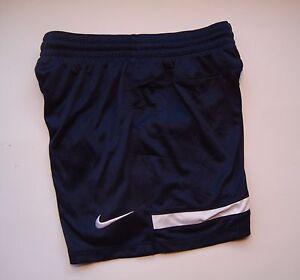 NIKE Navy Blue Hertha Knit Boy's Youth Soccer Match Shorts Style #448258 NEW