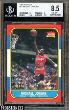 1986-87 Fleer Basketball #57 Michael Jordan RC Rookie HOF BGS 8.5 w/ 9.5 Edges