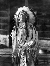 Photo. 1909-11. Native American Indian in Full Native Dress