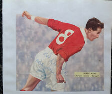Signed 1950s Bobby Ayre Charlton Athletic FC Football Autograph Signature