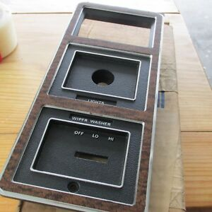NOS 1973 - 1978 FORD GALAXIE LTD CUSTOM 500 COUNTRY SQUIRE DASH SWITCH BEZEL WOO