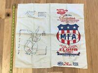 1930s CHASE Bag MFA 24# Cambric Cloth FLOUR SACK Needlework EMBROIDERY DESIGN