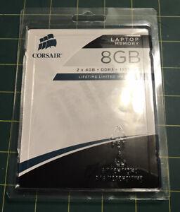 *NEW* CORSAIR - 8GB (2PK x 4GB) 1.0GHz DDR3 SoDIMM Laptop Memory Kit