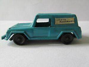 1970's MARX DELIVERY TRUCK BLUE DIECAST TOY PLASTIMARX MEXICAN MADE IN MEXICO