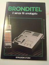 MANUALE D'ISTRUZIONI - BRONDITEL - TELEFONO SENZA FILI BRONDI - VINTAGE C10-910