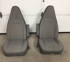 97-18 Chevy Express/GMC Savana Van Pair LH & RH Gray Cloth Power Bucket Seats