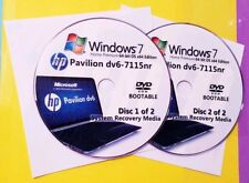 HP Pavilion dv6-7115nr Factory Recovery Media 2-Discs / Windows 7 Home 64-bit