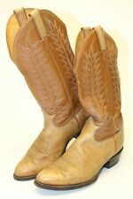 Tony Lama 6530 Mens 9.5 D Tall Hand Made Patina Leather Cowboy Western Boots