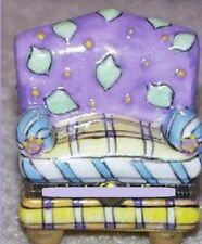 CHAIR with PURPLE BACK-Porcelain Hinged-Box-COLORFUL and MATCHES OTHER FURNITURE
