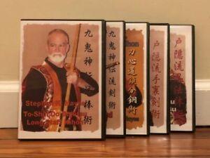 NINJUTSU WEAPONS (5) DVD SET bojutsu kenjutsu kusari-fundo senban taijutsu