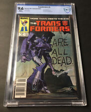 Transformers #5 Newsstand CBCS 9.6 NM+ White Pages Shockwave Dinobots Like CGC