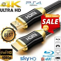 PREMIUM 4K UltraHD HDMI CABLE v2.0 HIGH SPEED GOLD PLATED 2160P 3D HDTV 1 TO 10M