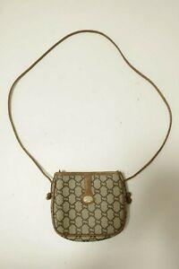 Authentic Vintage Gucci Canvas PVC Shoulder bag Crossbody  #9369