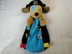 Taggies Pirate Puppy Dog Plush Security Blanket Lovey