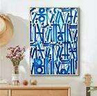 Retna Canvas Print, White/Blue, 28x42, New