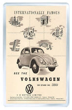 VOLKSWAGEN BEETLE ADVERTISEMENT VINTAGE REPRO FRIDGE MAGNET IMAN NEVERA