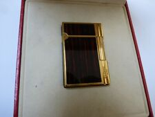 ST Dupont Gatsby Cigar Lighter - Ebony Lacquer - Gold Plated Trim - Boxed