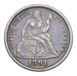 Full Liberty - 1891 Seated Liberty Silver Dime *351