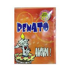 COMPLEANNO biglietto musicale canta nome RENATO e TANTI AUGURI A TE