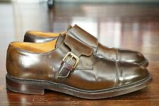 RARE | CROCKETT & JONES 11 D 10 E BROWN SHELL CORDOVAN LINCOLNSHIRE MONK STRAP