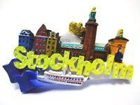 Stockholm Magnet Schweden Souvenir Poly Gamla Stan Rathaus Krone