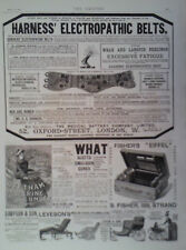 1890 ADVERT HARNESS ELECTROPATHIC BELTS-BEETHAMS GLYCERINE & CUCUMBER-HIERATICA