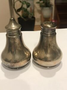 Vintage 1960s Imperial Silver-Plated Salt and Pepper Shakers