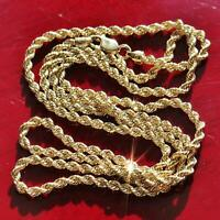"10k 417 yellow gold necklace 20.0"" rope chain vintage  2.5gr"