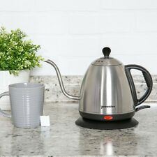 Electric Teapot Gooseneck Kettle Coffee Tea Maker 1 L Stainless Steel Kitchen