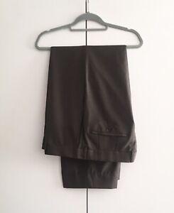 HUGO BOSS PARKER Sz 54/  38 Men Mocha Virgin Wool Business Work Pant Trouser