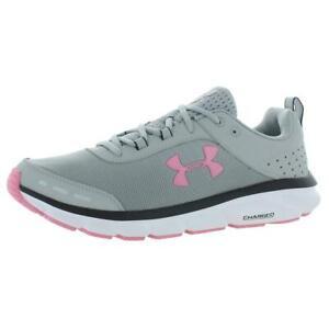 Under Armour Womens Charged Assert 8 Gray Running Shoes 12 Medium (B,M) 8809