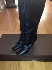 Louis Vuitton Lambskin Leather Bora Half Fold Over Knee High Heel Boots 39 / 8.5