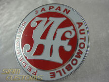 JAF JAPAN AUTOMOTIVE FEDERATION EMBLEM LOGO RED BADGE FRONT GRILL JDM
