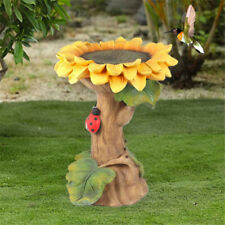 Bird Bath & Feeder Pedestal Free Standing Garden Bird Outdoor bath Sunflower Usa