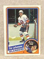 1984-85 Topps Hockey Pat Lafontaine New York Islanders Rookie Card #96 RC