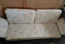 VINTAGE MID CENTURY MODERN  ALUMINUM GLIDER  WITH CUSHIONS LAWN DECK PORCH PATIO