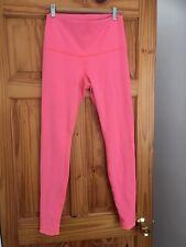 Lululemon High Waisted Wunder Under Pink Grey Reversible Yoga Gym Leggings Uk 12